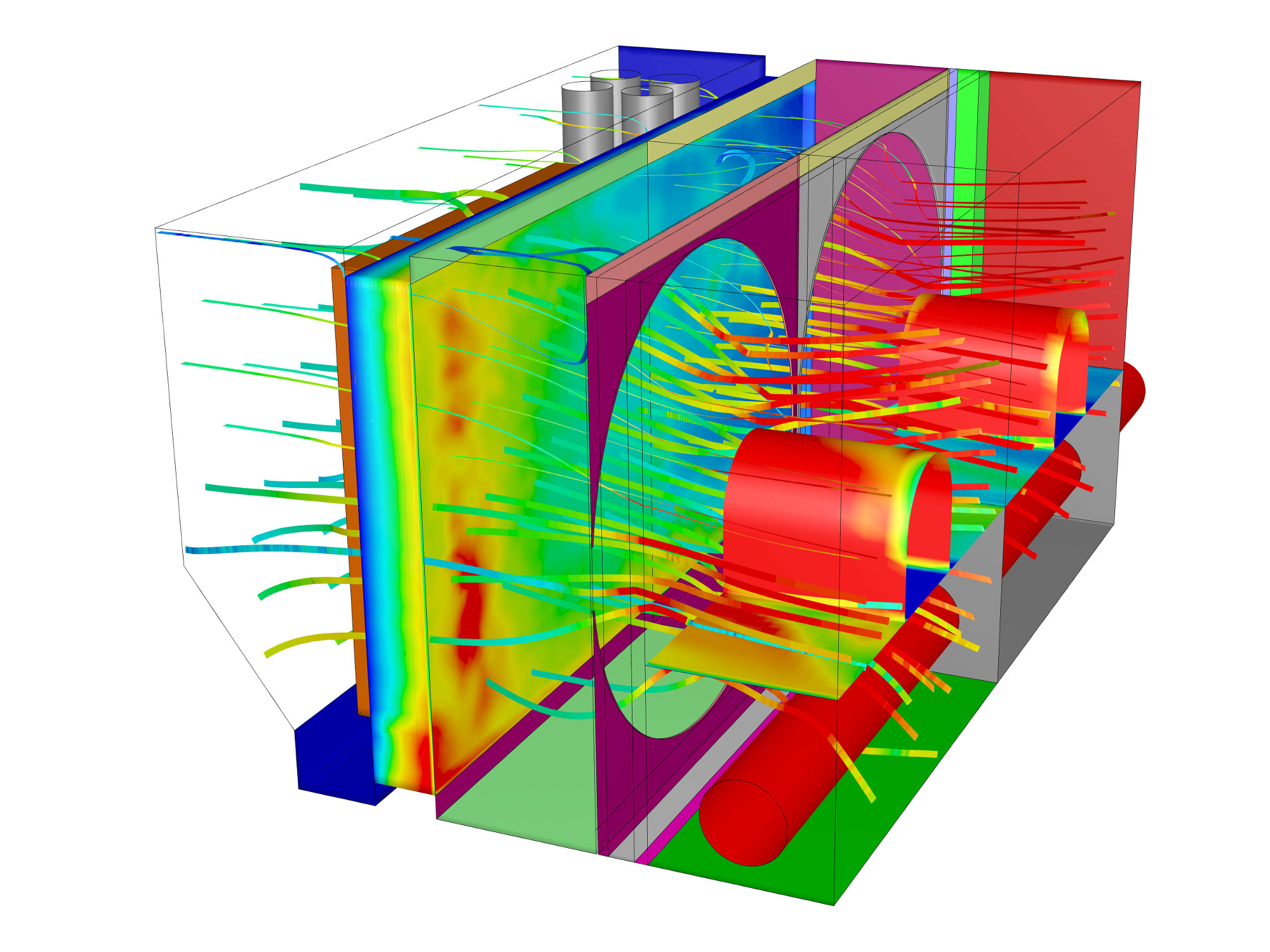 Charge air cooler intercooler CFD
