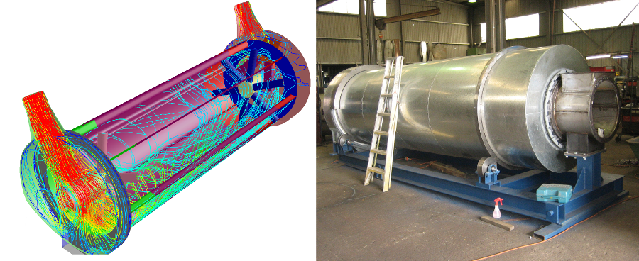 CFD simulations were used to optimised the design of a copra dryer